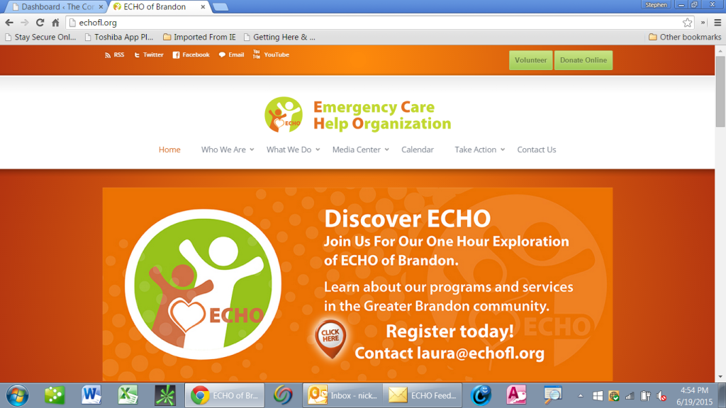 ECHO - Community Service Hours - monthly reminder @ ECHO | Brandon | Florida | United States