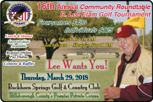 Community Roundtable Annual Golf Tournament @ BuckHorn Springs Golf and CC | Valrico | Florida | United States